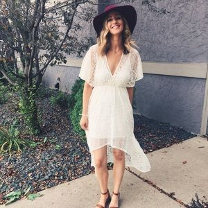 H&M Lace High Low dress (size 6)